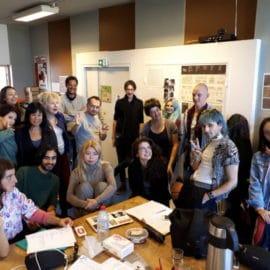 Les étudiants de l'EBABX pour un workshop avec Frédéric Forte et Valérie Philippin